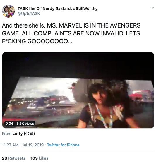 Ms Marvel Kamala Khan Avengers Game