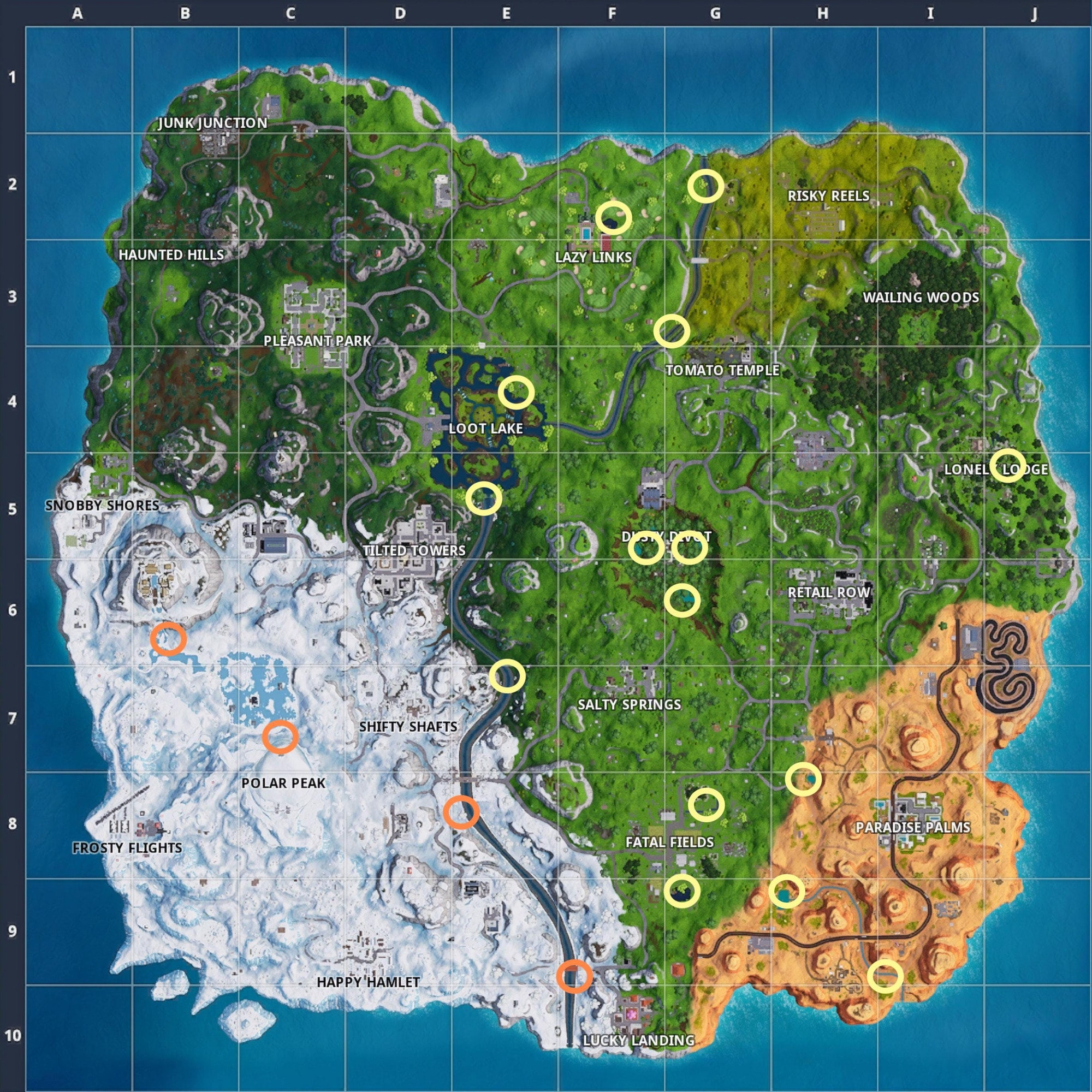Fortnite Waterside Goose Nest Map