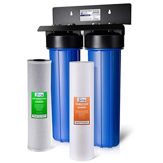 iSpring WG22b 2-Stage 20 Big Blue Whole House Water Filter