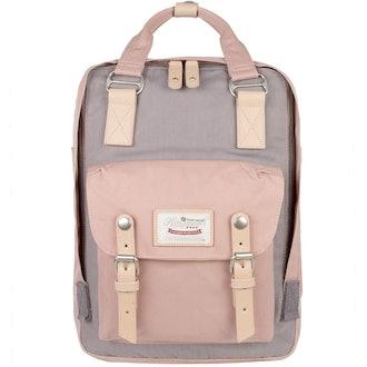 """Himawari School Waterproof Backpack 14.9"""" College Vintage Travel Bag"""