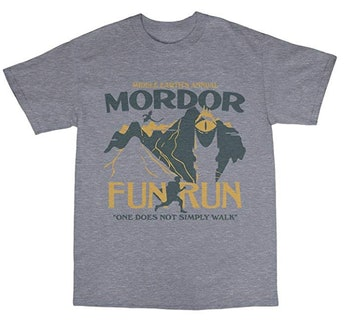 Bees Knees Tees Mordor Middle Earth Fun Run T-Shirt Cotton