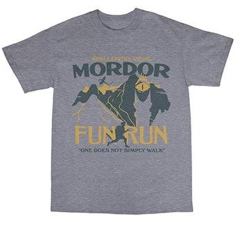 Bees Knees Tees Mordor Middle Earth Fun Run T-Shirt Cotton