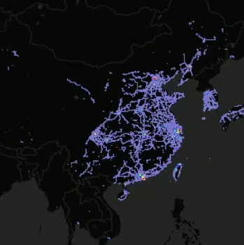 Teslas in Asia.