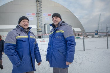 Chernobyl New Containment Shelter Workers