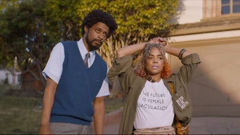 Cash and Detroit in 'Sorry to Bother You'.