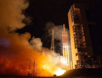 The Parker Solar Probe was launched into space by the United Launch Alliance Delta IV Heavy rocket l