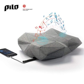 PILO Classic Ergonomic Smart Music Pillow, Orthopedic Contour Neck Pillow of Memory Foam & Bamboo Charcoal, Anti Snore Sound Therapy Pillow with Binaural Speakers, White Noise & Themed Sound Sleep-Aid