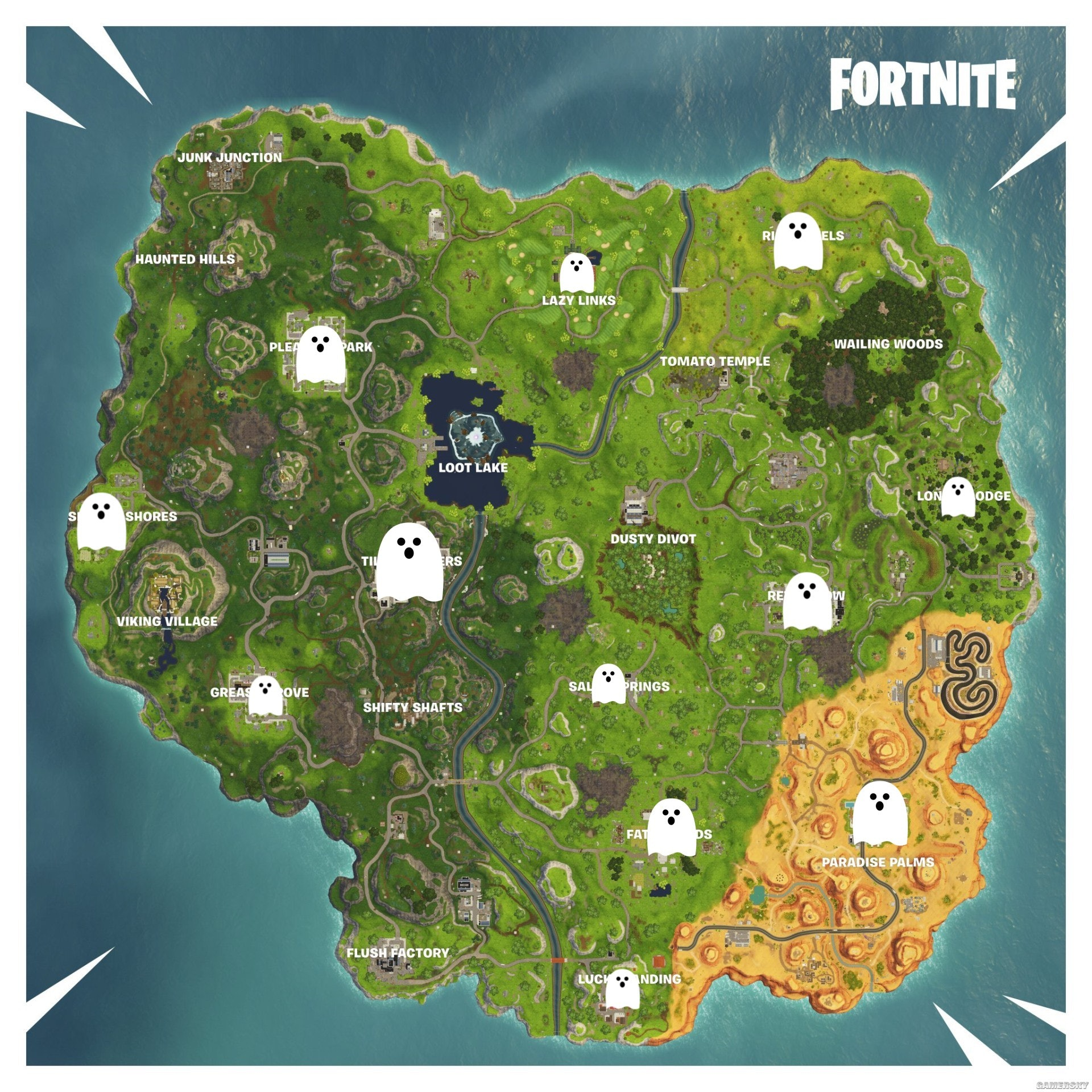 'Fortnite' Ghost Decoration Locations for Fortnitemares