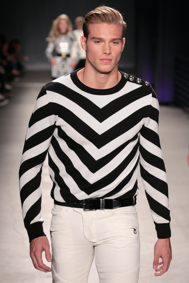 Mens Striped T Shirt Black And White