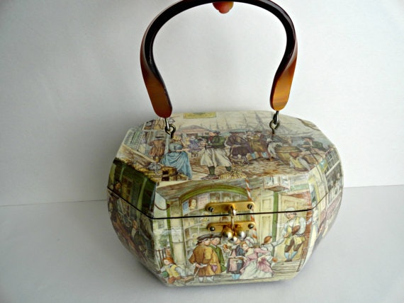 Mid Century Victorian Lucite Wooden Box Purse,  94, Etsy. This stunning  piece of handbag ... c71142fde9