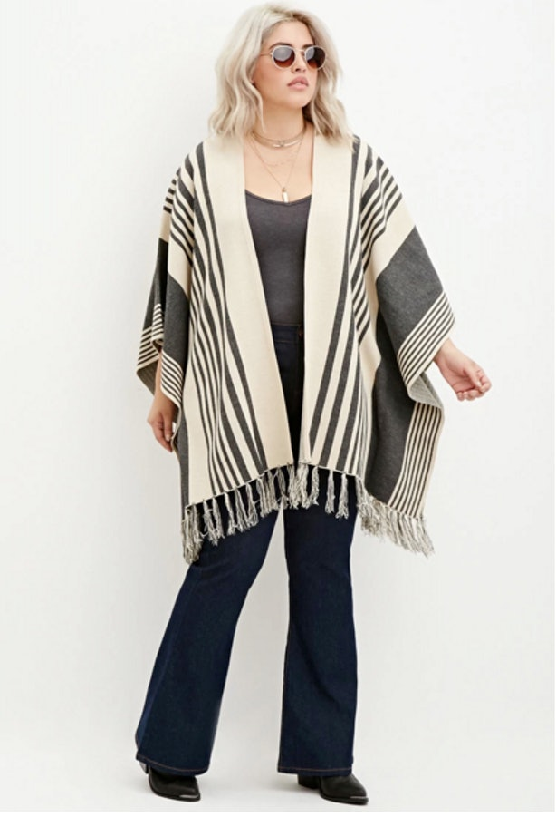 Forever 21 Plus Size Mixed Print Poncho