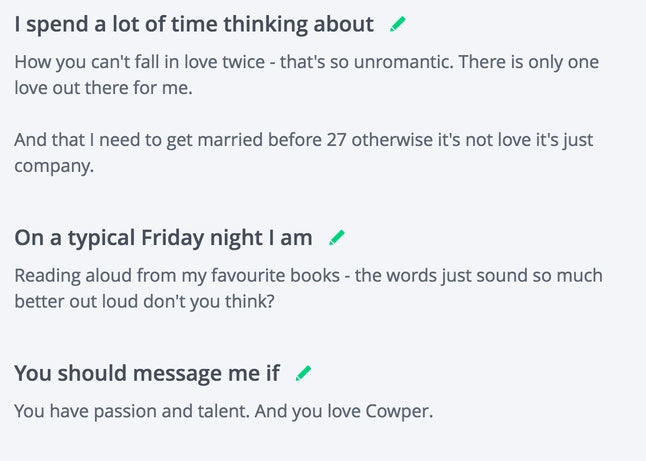 marriage profile about me
