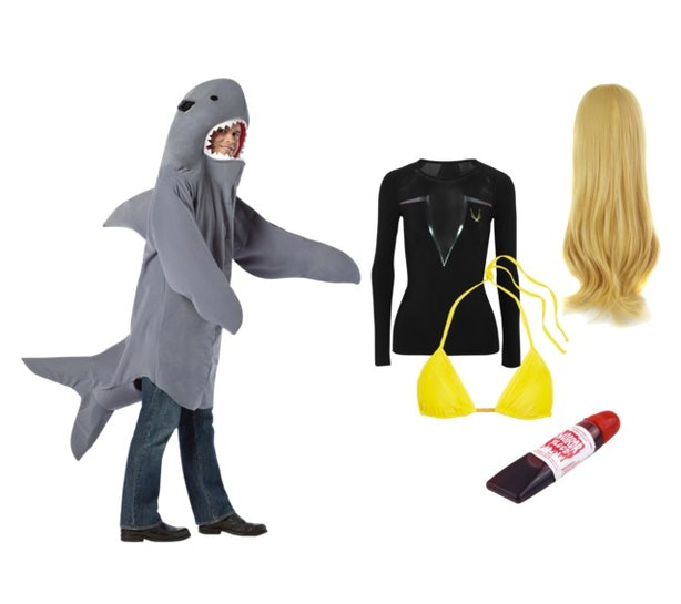 12 diy best friend halloween costume ideas for 2016 that are almost 11 blake lively and the shark from the shallows solutioingenieria Choice Image