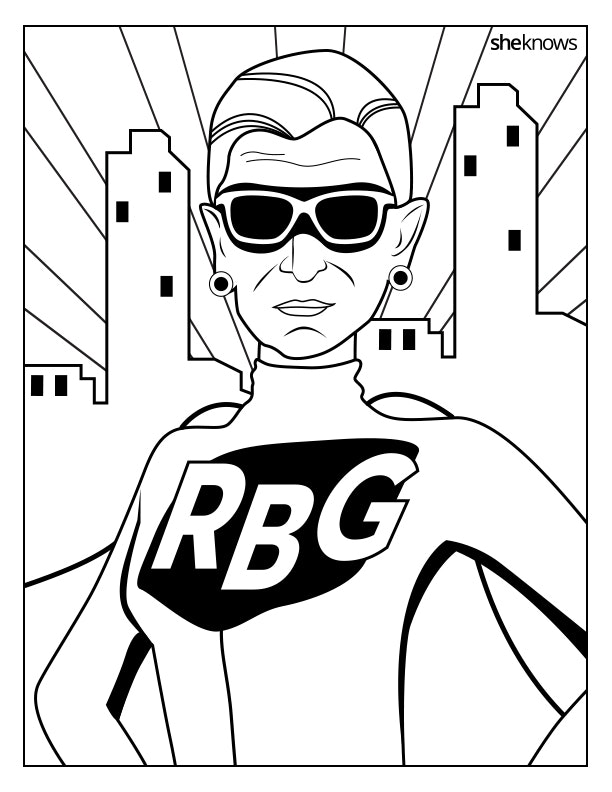 this ruth bader ginsburg coloring book is perfect for