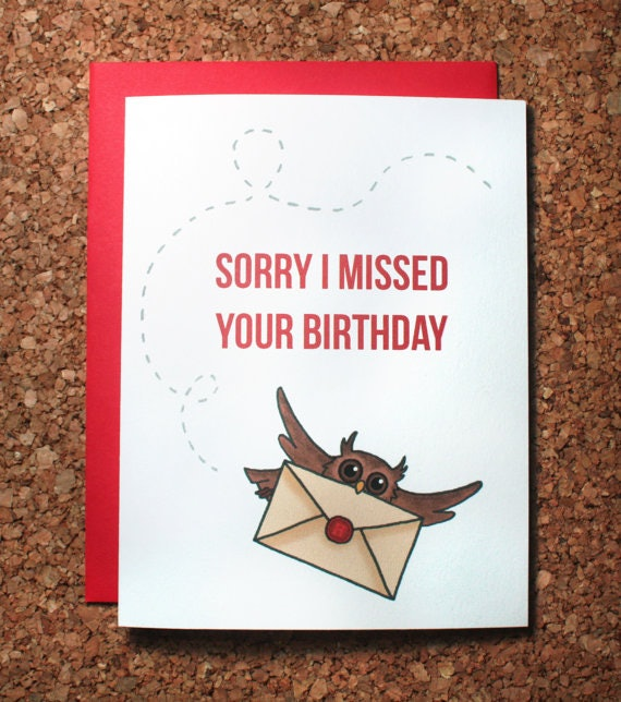 15 harry potter inspired birthday and greeting cards everyone will a belated birthday card delivered by owl m4hsunfo Gallery