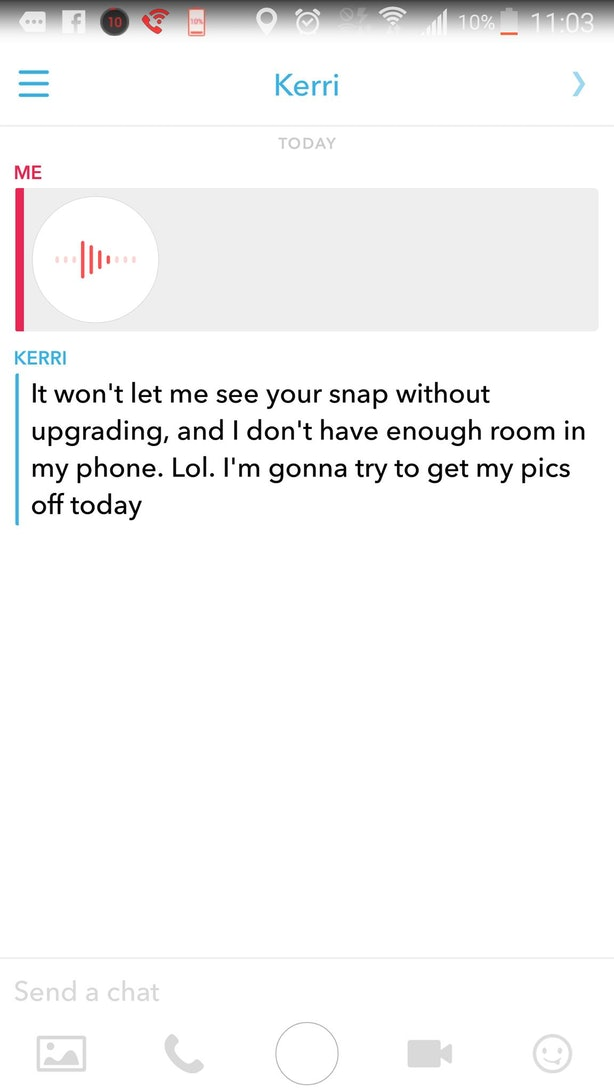 how to send voice message on snapchat