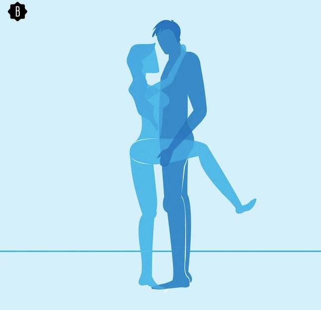 Drawing of a couple in the standing sex position for 2020.