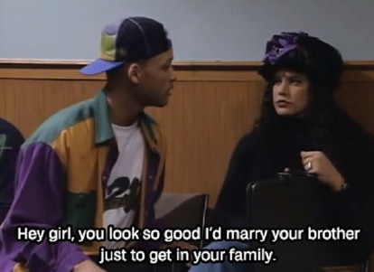 Will Smith using a ridiculous pick up line in The Fresh Prince of Bel-Air