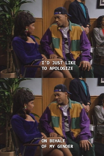 """Will Smith """"apologize for my gender"""" Fresh Prince pick up line"""