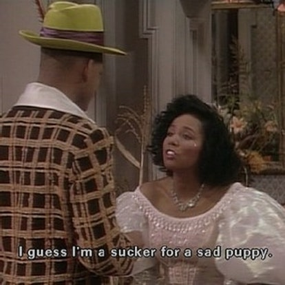 Will Smith sad puppy pick up line in Fresh Prince
