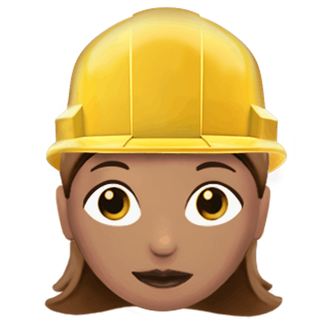 Image result for construction hat emoji