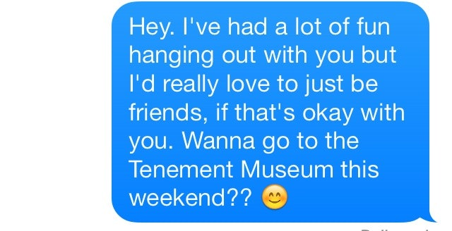 how to tell a guy you just wanna be friends