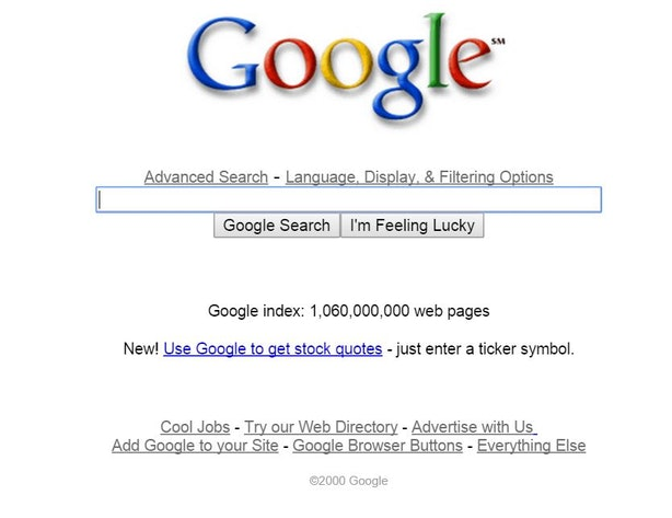 Google Stock Quote Amusing What Did Google Used To Look Like A Visual History Of Everyone's