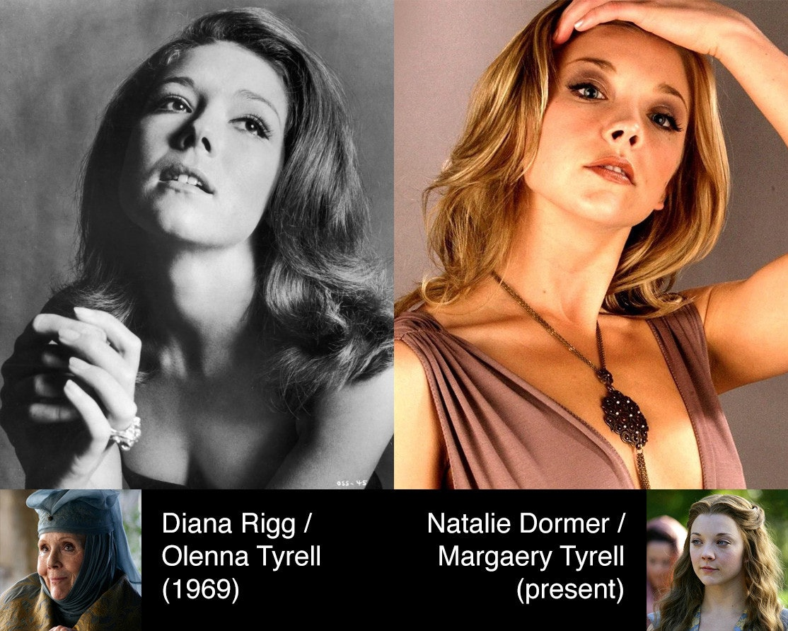 game of thrones natalie dormer looks creepily identical to younger version of her on screen grandma photo game of thrones natalie dormer looks