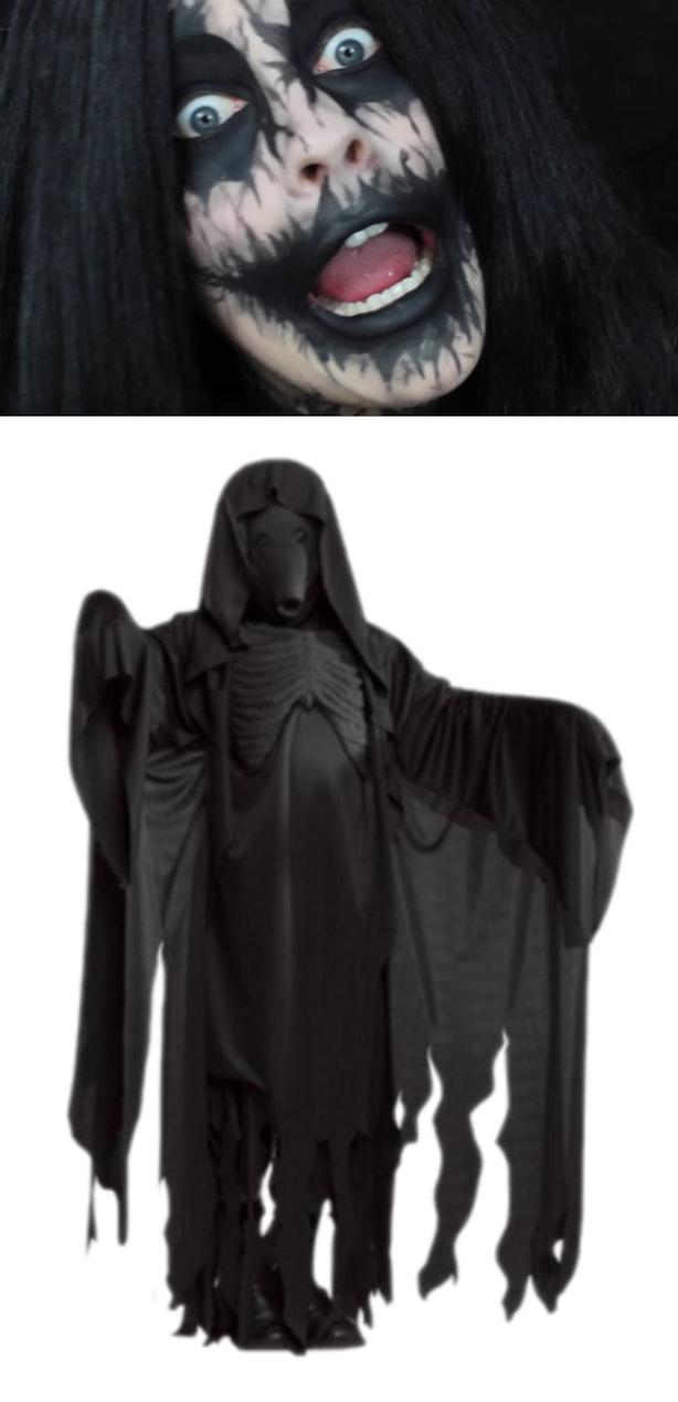 Dementor Face Paint