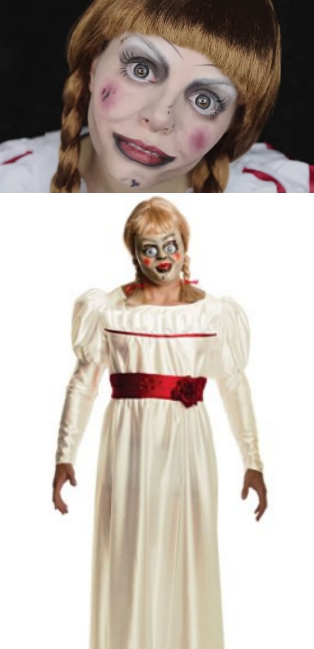 All Youll Need Is A Dress And The Ability To Braid Your Hair Check Out This Annabelle Makeup Tutorial Add That Extra Creepy Touch