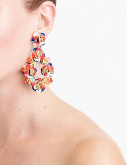0d6c2adae54 Leather Backed Sequin Petal Earrings 65 Jcrew. 43 Statement Earrings To  Rock Over The Holidays Take Your
