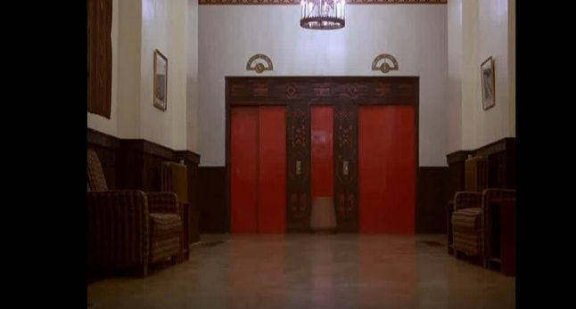 One Of The Most Famous Scenes In Shining Involves A River Blood That Pours From Hallway Front These Elevators