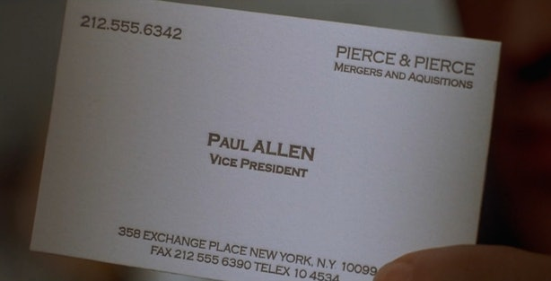 14 things american psycho ruined because huey lewis the news is business cards become an obsession for patrick bateman to the point that hes willing to kill his co worker louis for his card being better than patricks fbccfo Gallery