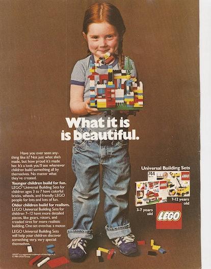 Bambina con i lego, pubblicità 1981.