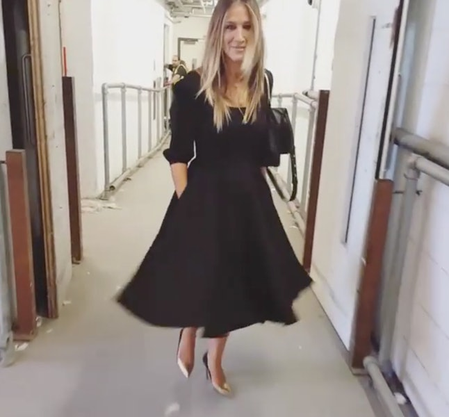 This Dress Keeps Getting Better And It S Only One Of Many Sjp Lbds Woo