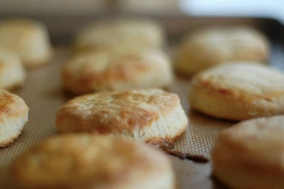 Buttermilk biscuits are great when you want to bake something savory.