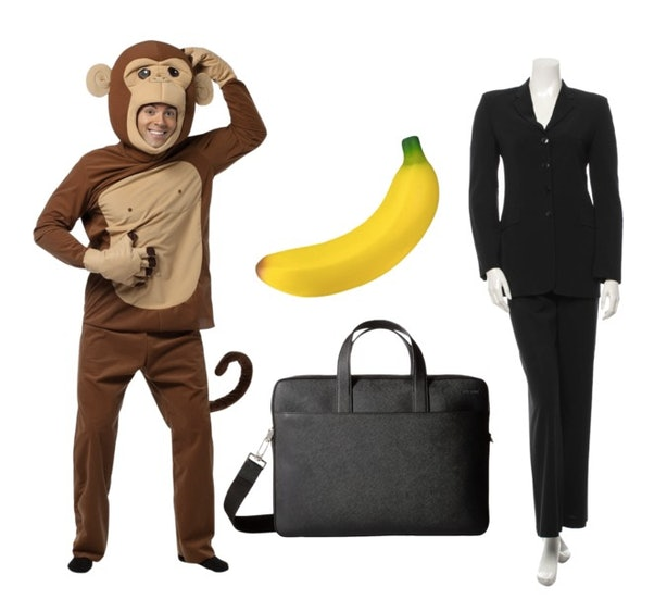 20 clever pun halloween costumes for couples who are looking for laughs what youll need a full blown monkey costume or a monkey sweatshirt and tail a banana a business suit and a briefcase make sure youre both being solutioingenieria Choice Image