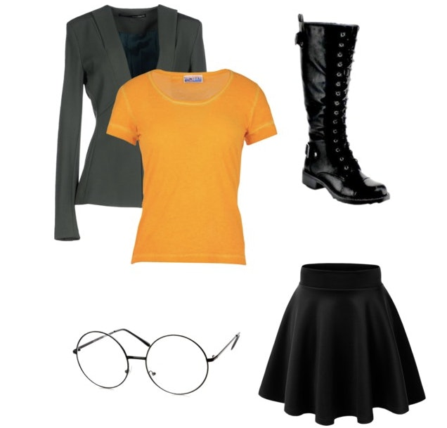 ... orange T-shirt black skirt lace-up combat boots and or course circular glasses. Itu0027s a funny and totally comfortable Halloween costume that you can ...  sc 1 st  Bustle & 19 Funny Feminist Halloween Costumes That Are Hilarious And Make A ...