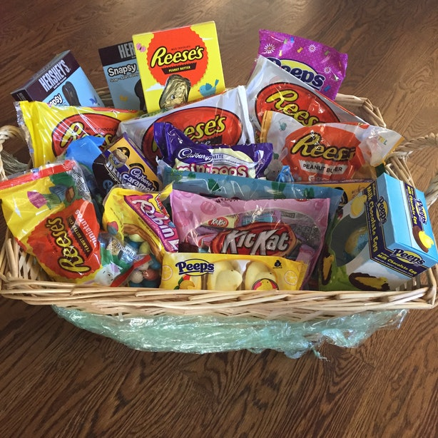 10 easter basket ideas for adults because chocolate bunnies aren 1 chocolate lots of chocolate negle Image collections