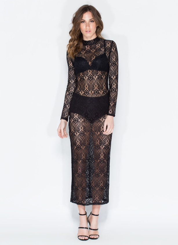 Copy Ashley Graham\'s See-Through Black Dress From The \'Sports ...