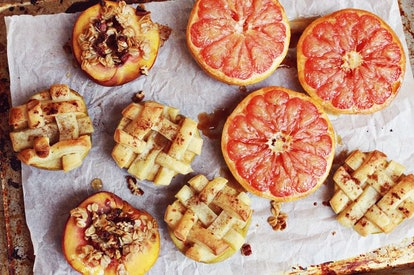 Baked fruit, like this recipe from A Beautiful Mess, is a great way to use up extra fruit.