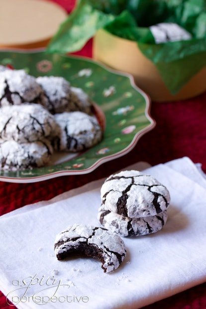 A Spicy Perspective's Mexican chocolate crinkle cookies are easy and delicious.