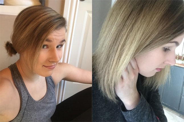 I Toned My Blonde Highlights At Home For Cooler Hued Hair Here S