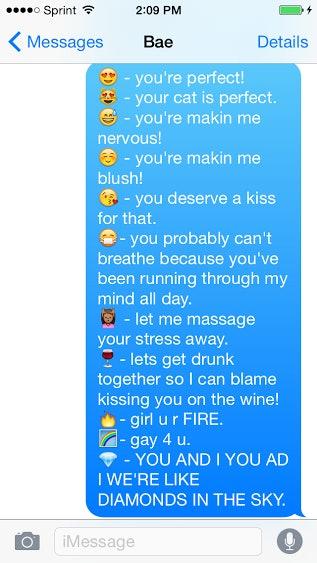 Flirting with emojis