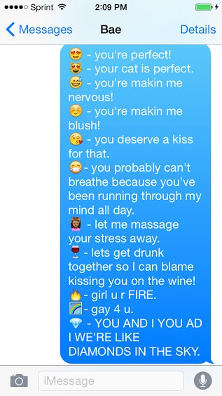 Flirty emoji texts for him