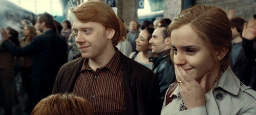 Image result for ron and hermione
