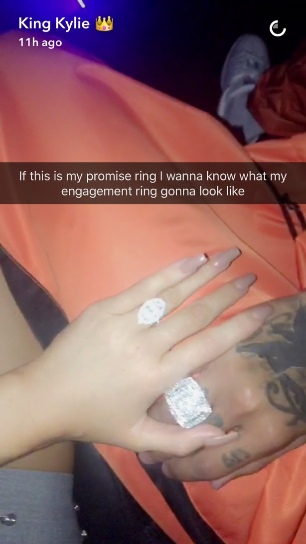 Kylie Jenner S Huge Diamond Is A Quot Promise Ring Quot So She
