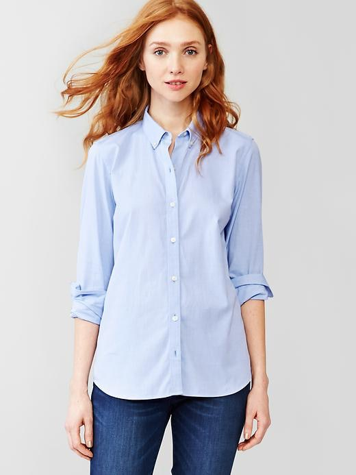 Women's work shirts help you look great while working hard Women's work shirts make it easy to look professional without sacrificing your sense of style. These classic pieces feature quality fabrics and clean designs that provide comfort even through long shifts.