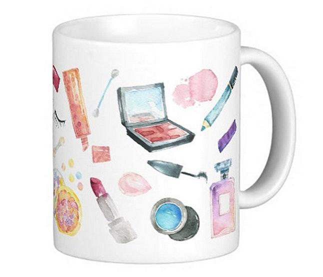 Watercolor Cosmetics Makeup Lover Mug 15 Etsy