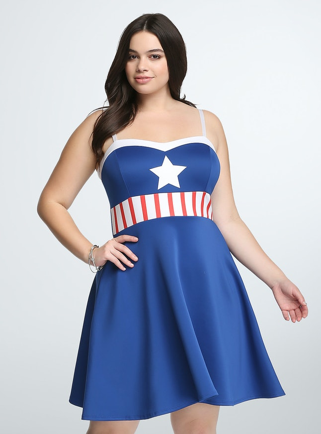 Torrid And Her Universe Release Marvel Avengers Dresses In Plus